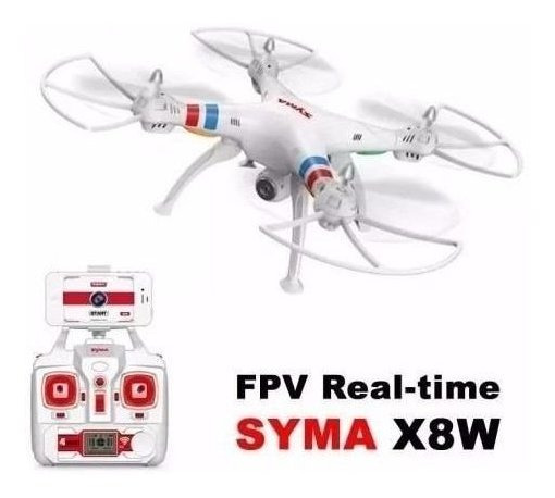 Drone Phantom Syma X8w Fpv Lipo Rc Foto Frete Gratis Branco