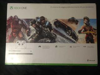 Consola Xbox One S 4k Hdr Nueva Sin Uso + 2 Juegos Digitales