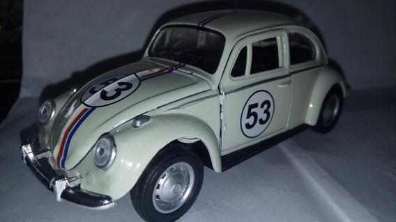 Miniatura Vw Fusca Herbie Abre Portas / Capô!