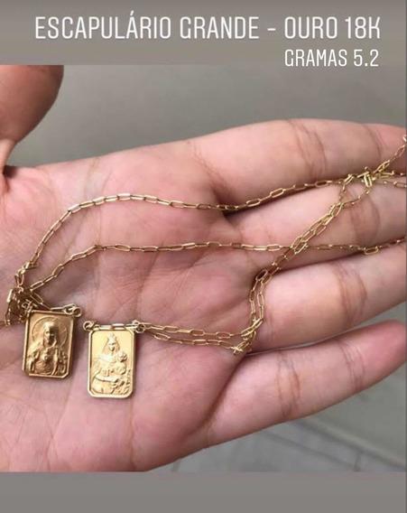 Escapulário   Ouro 18k   Grande   Gramas 5.2