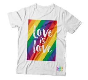 Camiseta Estampa Frente Lgbt - Love Is Love
