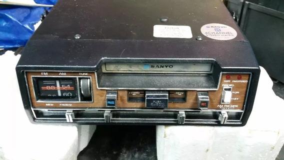 Auto Radio Toca Fitas Gravador Antigo Sanyo Ft433 M Novo