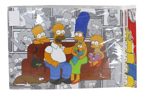 Jogo Americano E Porta Copos Os Simpsons Disney Fox 2 Peças
