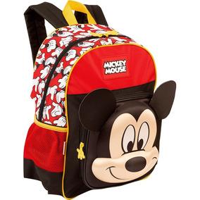 Kit Mochila Escolar Costas Média E Estojo Mickey Mouse