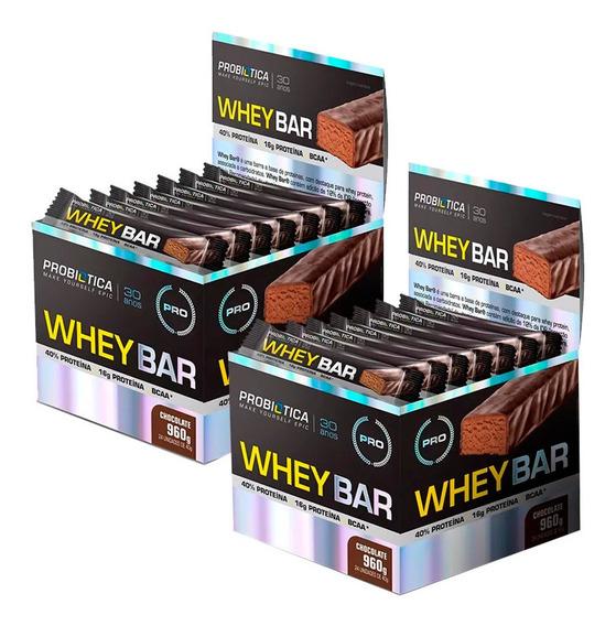 Combo 2x Whey Bar Caixa 24 Barras - Probiótica - (sabores)