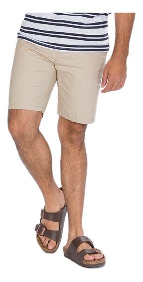 Bermudas Shorts Gabardina Hombre Casuales Cortas Print Moda