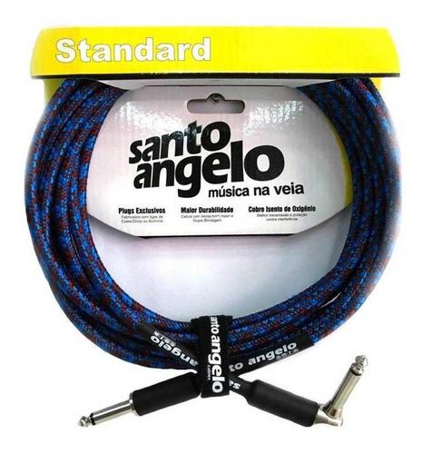 Imagem 1 de 4 de Cabo Guitarra Violão Santo Ângelo Textil 3,05 Metros Plug L