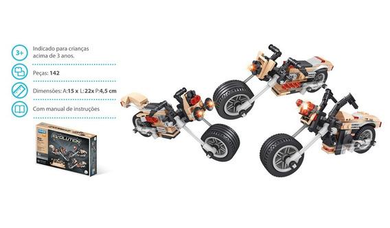 Brinquedo Blocos De Montar Com 142peças Evolution 3 Em 1