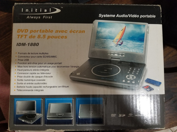 Dvd Portatil Initial 8.5 Lcd Tv Carro Sd Usb Cable Cambio