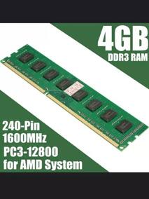 Memória 8gb Ddr3 1600mhz P/amd Am3 2x4gb