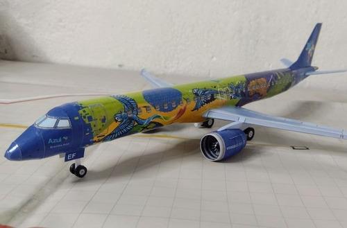 Embraer E195-e2 Ararinha Azul - Papercraft