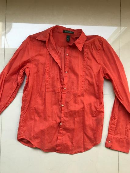 Camisa Dama Ralph Lauren Talla Ch Roja