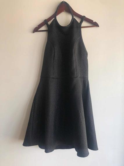 Vestido Mujer Corto Negro Abercrombie Large Vasi Escote Espa