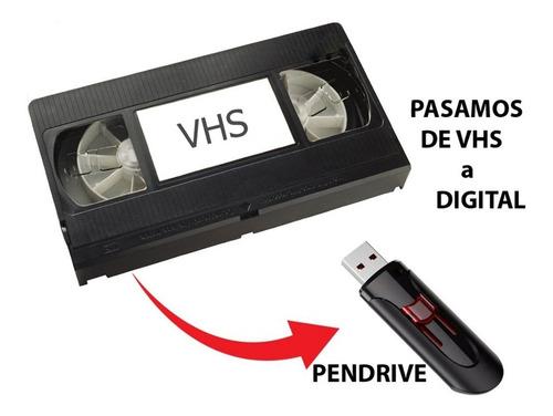 Pasar Vhs A Digital Peendrive Memoria Cd Dvd Disco Externo