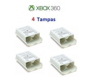 Xbox 360 - 4 Tampas Porta Pilhas Brancas - Frete R$ 15,00