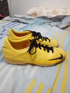 Tênis Mercurial Futsual Amarelo Da Nike