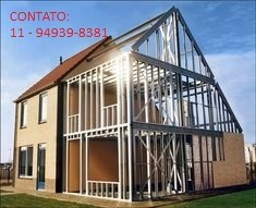 Steel Frame Tiny Houses, Casas Modulares, Containers, Galpão
