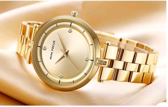 Relógio Feminino Minifocus Original Prova D