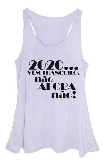 Blusa Regata Feminina Plus Size Estampa 2020 Réveillon Novo