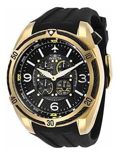 Reloj De Cuarzo De Acero Inoxidable Aviador Para Hombre Invi