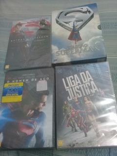 Boxe Em Dvd Superman+ Liga Da Justiça+ Homem De Aço+ Batman