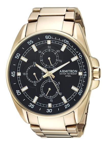 Reloj Armitron Dorado Para Hombre