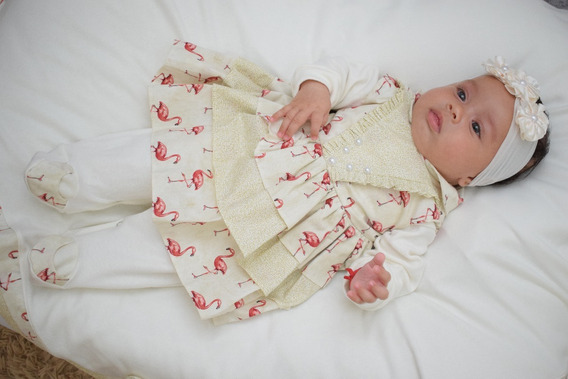 Kit Saida De Maternidade Menina 05 Peças - Anni Rosa