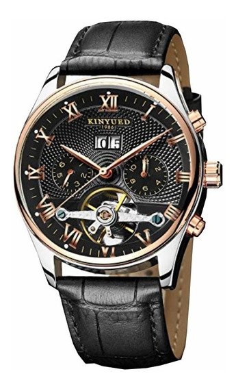 Relógios Automatico Mecanico Tourbillon Masculino Kinyued Marca De Luxo Top