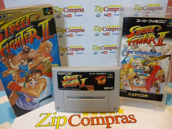 Street Fighter 2 Nintendo Super Famicom Original Japan