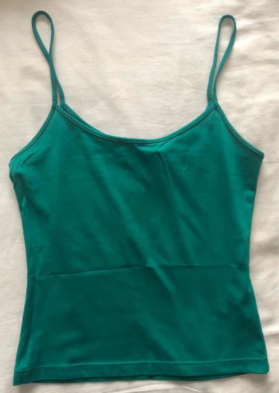 Musculosa Verde - Zara - Talle M