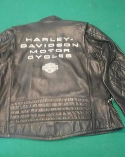 Chamarra De Piel Harley Davidson