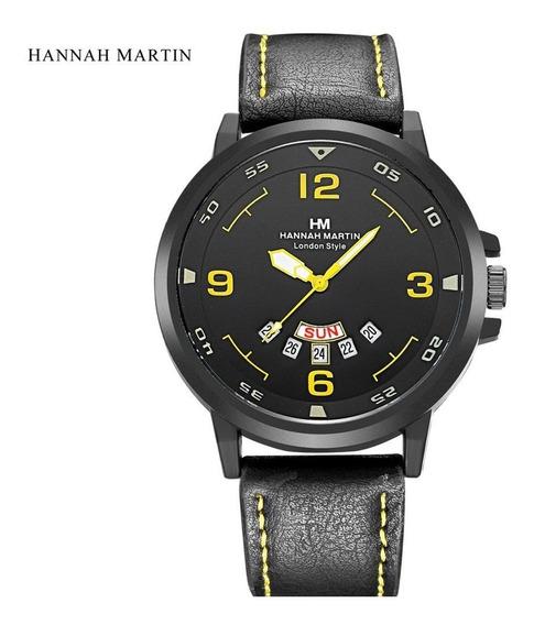 Relógio Hanna Martim Calendário Completo 100% Original