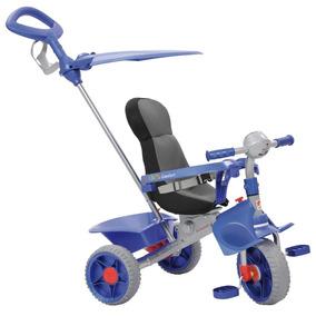 Triciclo Smart Confort Reclinavel Azul Bandeirante