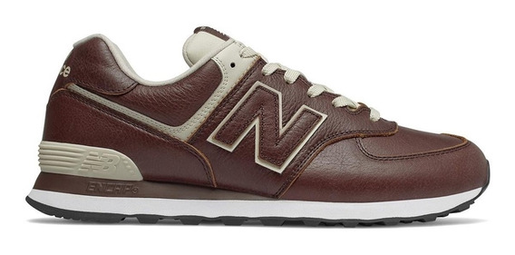 Tênis New Balance 574 Couro Original Ml574lpk Marceloshoes