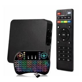 Conversor Box Converte Em Smart Tv Hd 4k + Mini Teclado