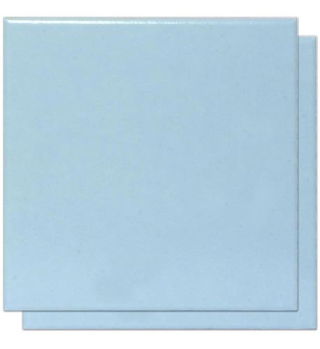 Imagem 1 de 2 de Revestimento Cerâmico Borda Azul Piscina Liso 20x20cm 1,72m²