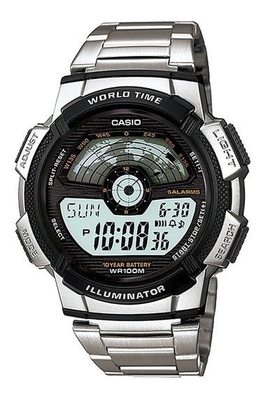 Relógio Casio Standard Masculino World Time Ae-1100wd-1avdf