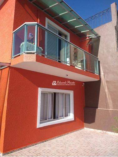 Sobrado Com 3 Dormitórios À Venda, 190 M² Por R$ 750.000,00 - Picanco - Guarulhos/sp - So0122