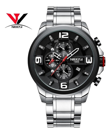 Relógio Nibosi 2336 Aço Inox Superluxuoso Barato Promoção