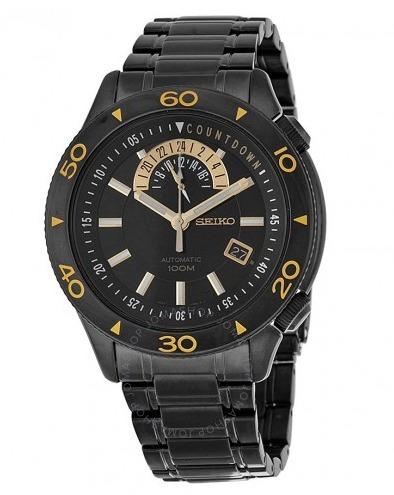 Relógio Seiko Automático Masculino Preto/aço/amarelo Origina
