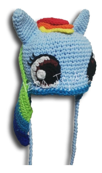 Gorro Tejido My Little Pony Rainbow Dash