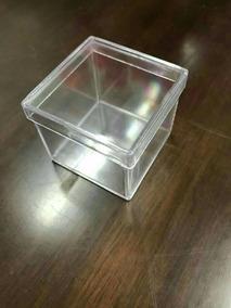 70 Caixinha Acrilico 5x5 Transparente+10 Tubete Lembrancinha