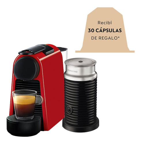 Imagen 1 de 10 de Cafetera Nespresso Essenza Mini D Automatica + Aeroccino