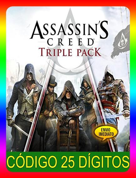 Assassins Creed Pack Triplo Xbox One - 25 Dígitos (envio Já)