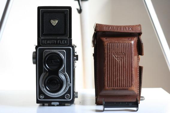 Câmera Tlr Beauty Flex V E Acessórios Para Coleção Ou Reparo