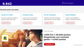 Milhas Areas Multiplus 6.942 Por 130$