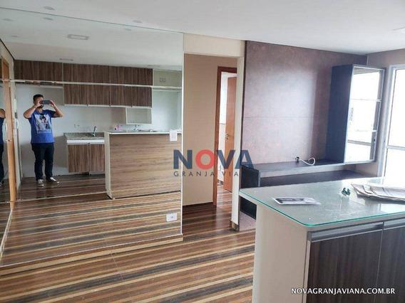 Apartamento Com 3 Dormitórios Sendo 1 Suíte Com 2 Vagas Para Alugar, 61 M² Por R$ 2.200/mês - Granja Viana - Carapicuíba/sp - Ap0236