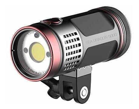 Dragon 5000f Luz Buceo Para Fotografia Video Adaptador