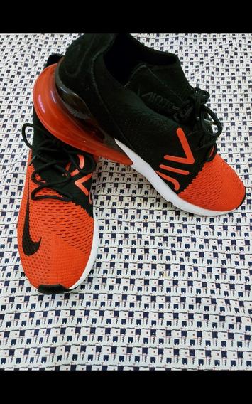 Nike Air Max 270 Flyknit Rojo/negro Usada