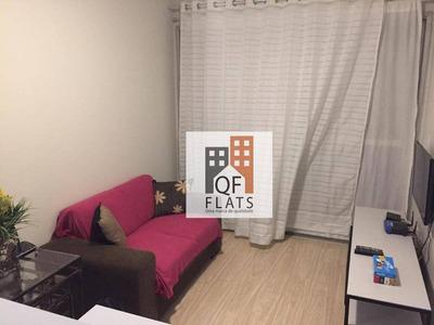 Flat Com 1 Dormitório Para Alugar, 36 M² Por R$ 2.400/mês - Moema - São Paulo/sp - Fl1364
